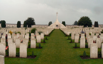 Photograph of Tyne Cot Cemetery in Flanders