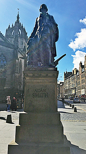 Adam Smith statue, Edinburgh