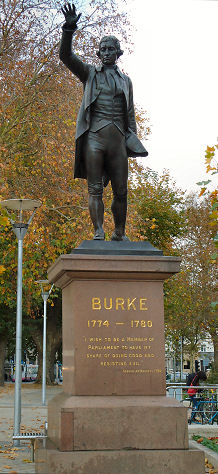 Statue of Edmund Burke in Bristol