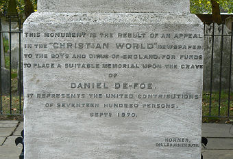 Defoe inscription