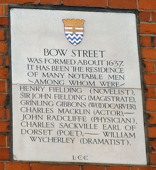 Bow Street Plaque