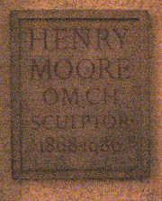 Henry Moore Plaque