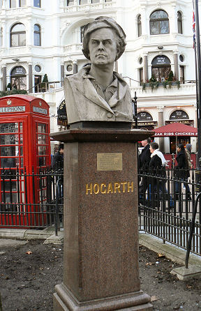 William Hogarth statue