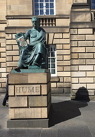 Statue of Hume Edinburgh