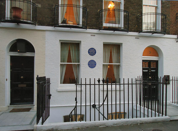House in London lived in by Marryat