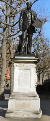 statue of Millais near Tate