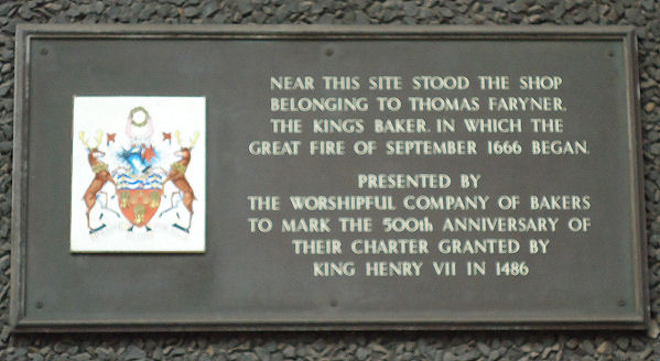 Great Fire of London Plaque