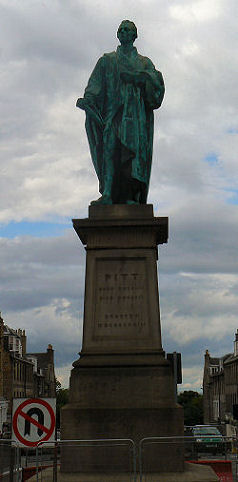 Statue of Pitt in Edinburgh