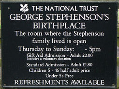 National Trust Plaque for Stephenson