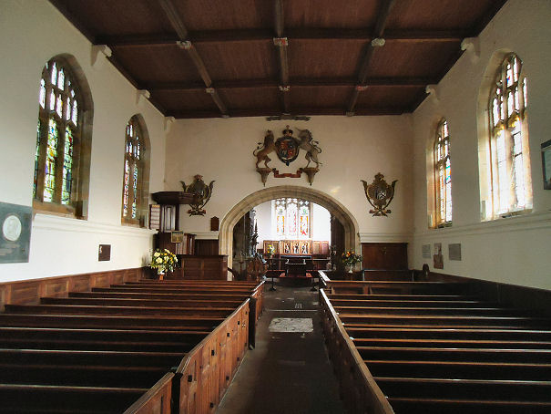 Interior of St Michael's, Coxwold