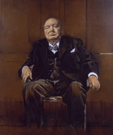 Portrait of Winston Chuchill. 1954