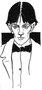 Self portrait of Beardsley.