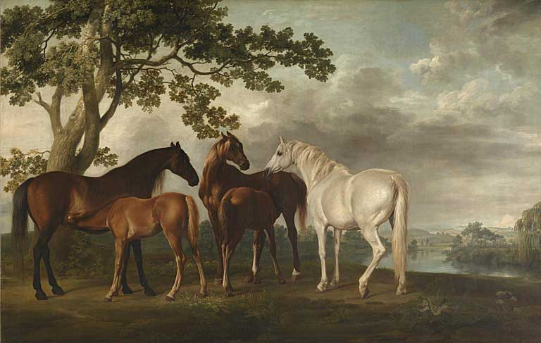 Mares and foals in a river landscape. 1768. Tate Gallery