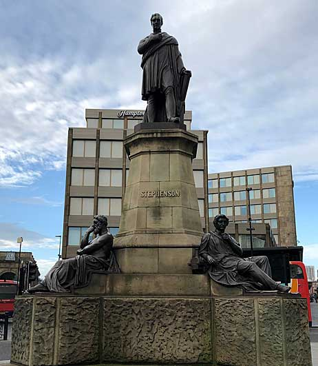 Statue of Stephenson in Newcastle